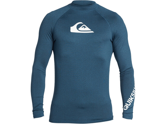 Quiksilver All Time T-shirt Manches longues Homme, majolica blue heather